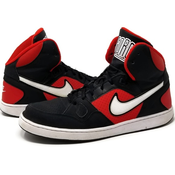 Nike Son of Force Mid Red Black White Size 14